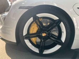 Porsche Taycan unveiled: the cool tyre design